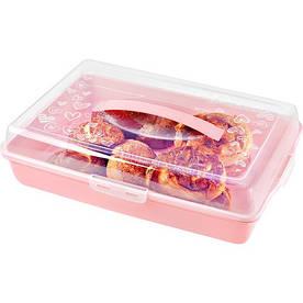 Тортівниця з кришкою Urve Plastik UR-3049