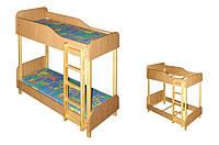 Кровать детская двухъярусная в детский сад