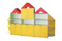 "Стенка - шкаф для книг и игрушек ""Будиночок"""
