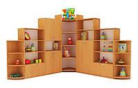 """Угловой шкаф для книг и игрушек """"Стенка """"Слоненя"""""""