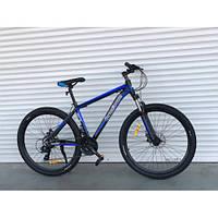 Спортивный велосипед TopRider колеса 27.5 дюймов 901 рама алюминий черно-синий Original Shimano