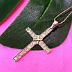 Крестик католический серебряный - Крестик из серебра с фианитами - Серебряный крестик, фото 2