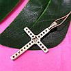 Крестик католический серебряный - Крестик из серебра с фианитами - Серебряный крестик, фото 4