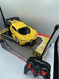 Игрушка машинка трансформер робот на пульте управления авторобот Желтая, фото 2