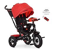 Велосипед-коляска детский трехколесный с поворотным сиденьем Turbo Trike M 4060-1 красный, фото 1
