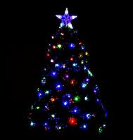 Новогодняя елка сосна искусственная разборная высота 90 см C 29333 с Led подсветкой 80 веток зеленая