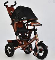 ⏩  Велосипед трехколесный Best Trike надувные колеса  6588-B бронзовый