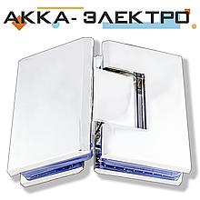 Петля для стекла 135° (стекло-стекло) 103 хром