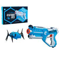 Пистолет лазерный Canhui Toys Laser Gun CSTAR-03 с жуком (BB8803B), фото 1