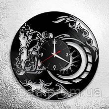 Годинник акриловий настінний 3D (Мото) Код-11136