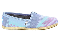 Женские TOMS Blue Summer Striped Linen Women's Classics, фото 1