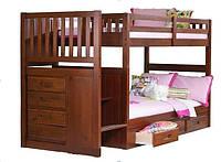 """Двухъярусная кровать с лестницей-комодом """"Пьеро"""", фото 1"""