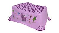 Детская ступенька-подставка для ванной туалета Lorelli (Bertoni) Hippo Liliac фиолетовая