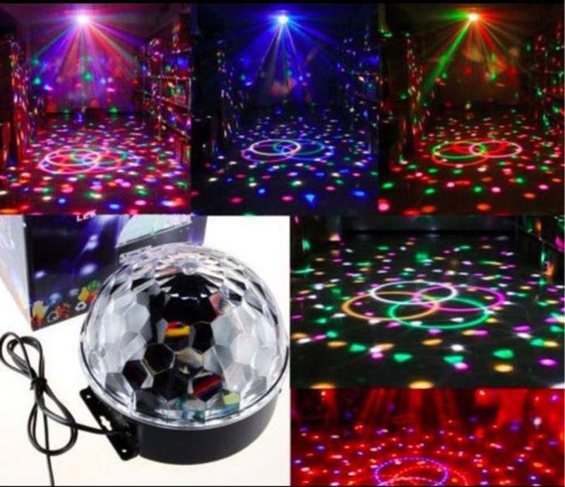 Лазерный проектор Диско-шар музыкальный с МР3 USB флешкой и пультом.