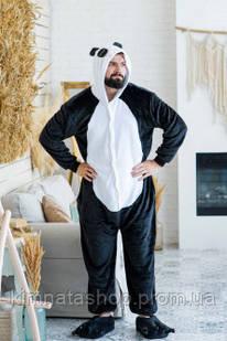 Кигуруми Панда черная XL- кігурумі піжама панда
