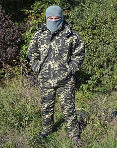 Костюм зимний куртка длинная + штаны Пиксель р.48-50