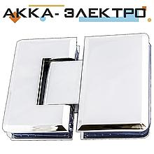 Петля для стекла 180°(стекло-стекло) 202 хром