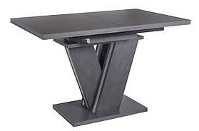 Стол обеденный раскладной стеклянный с МДФ графит матера сатин DAOSUN DT 402 U