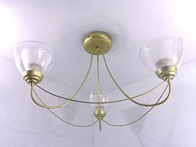 Люстра потолочная на 3 лампочки 33026/3 Золото 32х52х52 см.