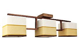 Люстра потолочная на 3 лампочки 6151/3 Коричневый 21х14х68 см.