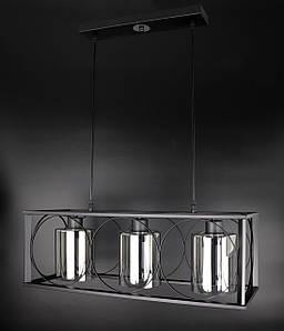 Люстра потолочная подвесная в стиле LOFT (лофт) 11825/3-gr Черный 35х24х63 см.