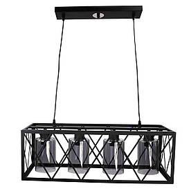 Люстра потолочная подвесная в стиле LOFT (лофт) 11535/4 Черный 40х25х63 см.