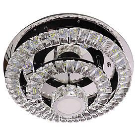 Люстра потолочная хрустальная LED с пультом C1793/500 Хром 19х50х50 см.