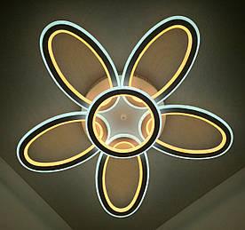 Светодиодная потолочаня LED люстра 9986/5+1 Белый 10х62х62 см.