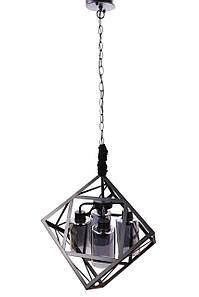 Люстра стельова підвісна у стилі LOFT (лофт) 11339/4 Чорний 60х45х50 див.