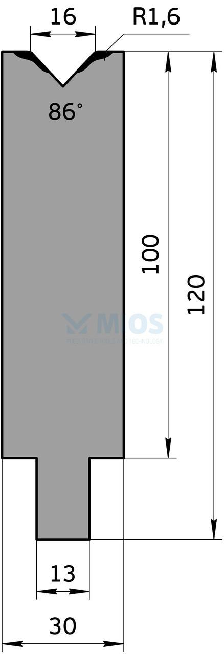 Матрица M.654.86.H (500мм)