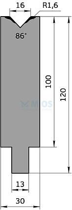 Матрица M.654.86.H (500мм), фото 2