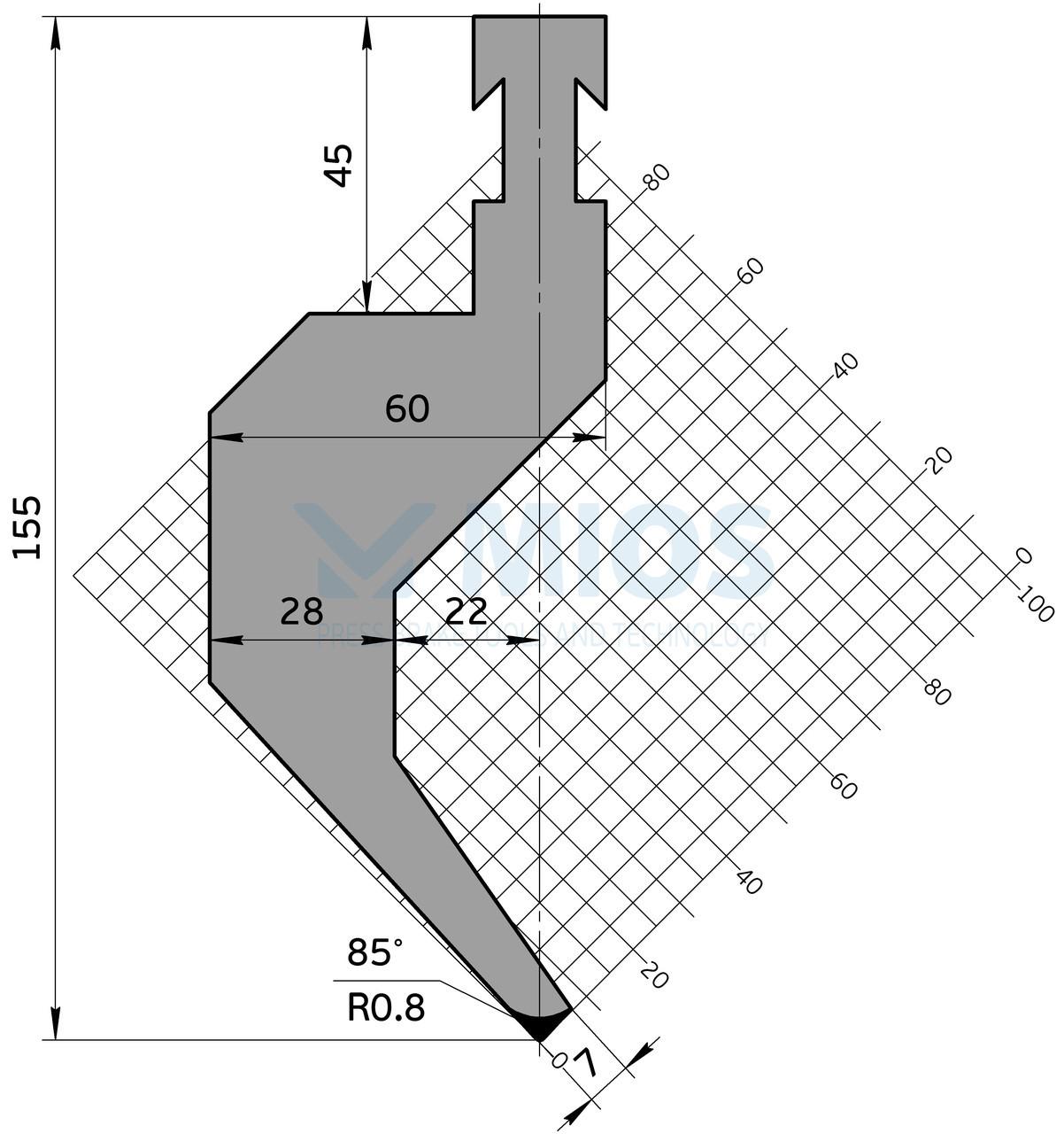Пуансон P.401.85.H (500мм)