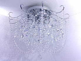 Люстра потолочная хрустальная с пультом 90080/8 Хром 49х63х63 см.