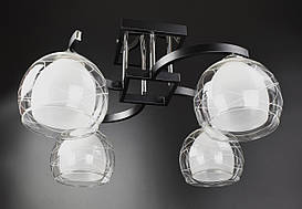 Люстра потолочная на 4 лампочки 51098/4 Черный 28х44х56 см.