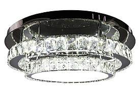 Люстра потолочная хрустальная LED с пультом C1875/600 Хром 16х60х60 см.