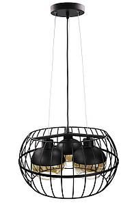Люстра потолочная подвесная в стиле LOFT (лофт) 11765/3 Черный 40х45х45 см.