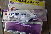 Отбеливающая зубная паста Crest 3D White Brilliance Vibrant Peppermint 116 грамм