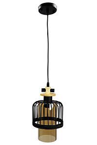 Люстра потолочная подвесная в стиле LOFT (лофт) 12052/1 Черный 40х16х16 см.