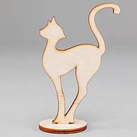 """Заготовка для декупажа и декора """"Кошка на подставке мал."""""""