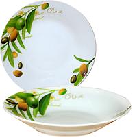 Тарелка суповая SNT Оливки 30003-1566 20,3 см