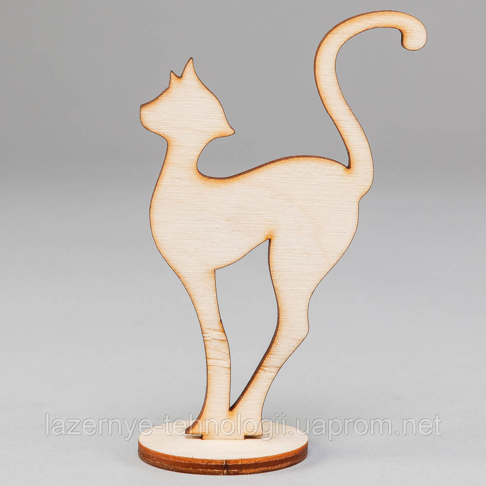 """Заготовка для декупажа и декора """"Кошка на подставке бол."""""""