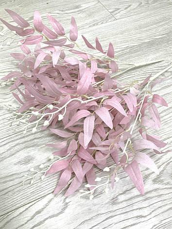 Декоративная ветка рускус розовый ( 50 см ), фото 2