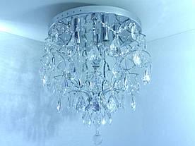 Люстра потолочная хрустальная с пультом 90030/6 Хром 46х45х45 см.