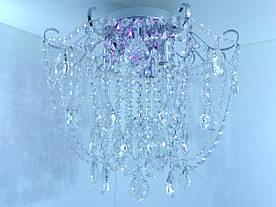Люстра потолочная хрустальная с пультом 90080/4 Хром 42х45х45 см.