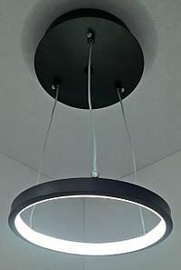 Світлодіодна потолочаня LED люстра 9079/1-(200)-bk Чорний 13х20х20 див.