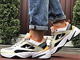 Мужские демисезонные кроссовки Nike M2K Tekno бежевые с оранжевым (Найк зимові м2к текно чоловічі), фото 6