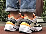 Мужские демисезонные кроссовки Nike M2K Tekno бежевые с оранжевым (Найк зимові м2к текно чоловічі), фото 4