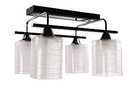 Люстра потолочная на 4 лампочки 126/4-bk Черный 29х37х39 см.
