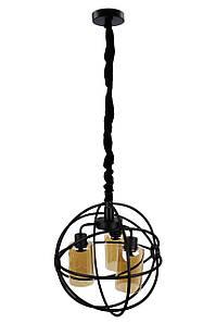 Люстра потолочная подвесная в стиле LOFT (лофт) 11509/3 Черный 50х40х40 см.