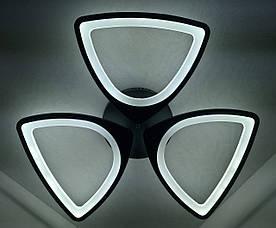 Люстра стельова LED з пультом A2282/3-bk Чорний 9х63х63 див.